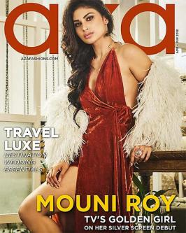 Mouni roy is lava on the aza fashions magazine cover