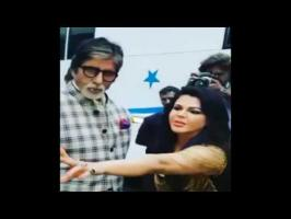 Rakhi Sawant Takes Amitabh Bachchan's blessings