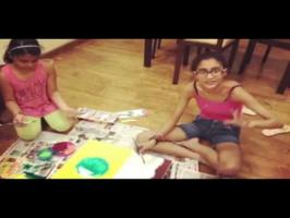 sushmitasen doughters painting for birthday - YouTube