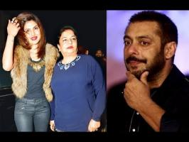 while Manish was guiding Salman and Katrina about the flow of the show, Priyanka Chopra's mother, Madhu Chopra, made an appearance to meet the designer. Howe...