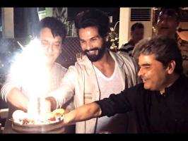 Vishal Bharadwaj film in the coming days, and might not get enough time to ring in his 36th birthday on February 25 with a bang. So his caring 'baby wife' Mi...