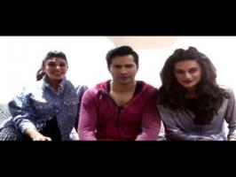 Varun Dhawan along with his co-stars Jacqueline Fernandez and Taapsee Pannu have started their journey to search for real life twins. Well, this time the sta...