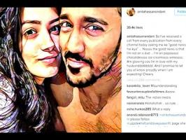 TV Actress Anita Hassanandani denied rumours about pregnancy in a tongue-in-cheek Instagram post, writing she owes her apparent weight gain to lots of chocol...