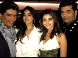 Jhanvi Kapoor was spotted bonding with Alia Bhatt at Karan Johar's party last night. Yes, we believe Jhanvi's favourite designer Manish Malhotra and Alia Bha...