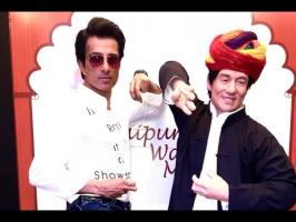 "Actor Sonu Sood has unveiled the wax figure of martial arts actor Jackie Chan in Jaipur.The ""Dabangg"" actor says he feels honoured to reveal the wax figure o..."