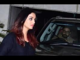 Both Aishwarya and Abhishek wore solemn looks on their faces as they sat in their car. Abhishek was seen driving the car. Aishwarya was dressed in all black,...