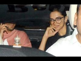 Deepika Padukone and Ranveer Singh were photographed outside filmmaker Karan Johar's residence in Mumbai on Sunday night. The rumoured couple were dressed ca...