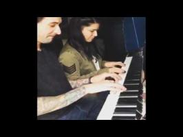 Watch sunnyleone Piano Playing with Husband