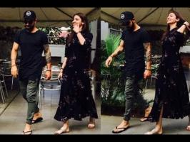 The couple were seen sharing a laugh after enjoying a quite lunch date at a Bangalore cafe. The pictures from this date show the stylish cricketer Virat Kohl...