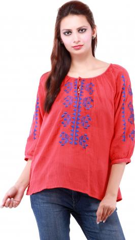 To have a vast multiple choice of collection with designer tops the best you can have on online shopping portal as it keeps best collection of tops for any of the occasion you want to wear. You can wear any stylish top in kitty party, friend's party or any of the special function with straight fit jeans or narrow bottom jeans which give you perfect personality.