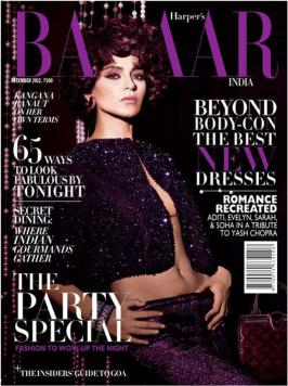 Kangna Ranaut looks like an absolute diva smouldering on the cover of Harper\'s Bazaarwearing Manish Arora and Louis Vuitton. Thick curls and a winged