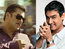 Aamir Khan surprised friend Salman Khan and Dabangg 2 team on the sets.
