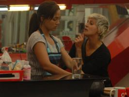 On the 59th day in Bigg Boss 6, Vishal Karwal and Sana Khan patch up turns talk of the house and Rajev, Karishma, Aashka and Sapna try to console her.