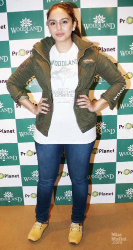 Woodland, the label for outdoor and adventure wear, unveiled the much-anticipated Fall/Winter collection 2012 with actress Huma Qureshi at their boutique