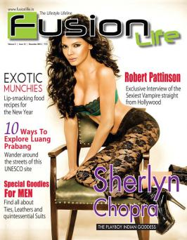 Sherlyn Chopra on the cover of Fusion Lite Dec 2012.