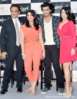 Arjun Kapoor and Parineeti Chopra at Aamby Valley Glitterati press meet
