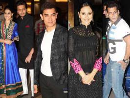 Stars like Salman Khan, Aamir Khan, Ameesha Patel, Sonakshi Sinha, Genelia, Ritiesh Deshmukh attended Dabangg 2 premiere. See pictures.