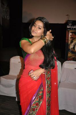 Tamil Actress Sneha in Saree at a Movie Audio Launch Function