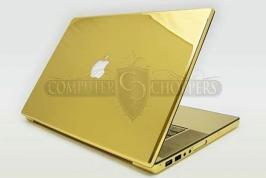 Now you could be a proud owner 24-carat gold-plated MacBook Pro with an Apple logo that features multi-color diamonds by spending 30,000 dollars. Computer Choppers, the firm that has launched the new of MacBook, also offers to cover your Apple product in white, rose and yellow gold, as well as copper, black and silver chrome.