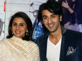 Ranbir Kapoor, who will be performing for the first time with his mother Neetu Kapoor on stage says she is nervous and so is he.