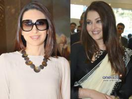 Aishwarya Rai Bachchan to have a face off with hubby Abhishek Bachchan\'s ex-girlfriend Karisma Kapoor in Dubai award function.