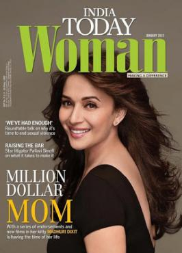Madhuri Dixit On Cover of India Today Woman Jan 2013 Magazine