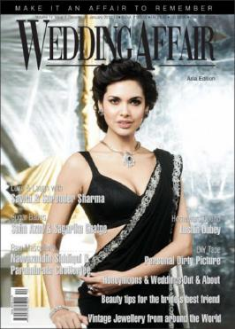 Esha Gupta Hot on Cover of Wedding Affair Asia Magazine Editon Jan 2013