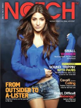 Anushka Sharma Hot On Notch Jan 2013 Magazine Coverpage