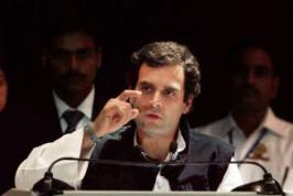 Congress vice-president Rahul Gandhi today said there is a \
