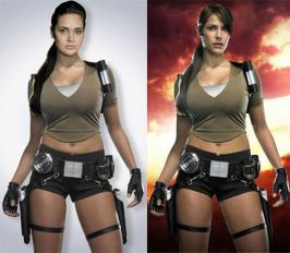 Esha Gupta It seems like after having a good year at the movies, Esha Guptahas now been signed on to play the desi version ofLara Croft: Tomb