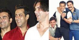 Brothers Salman, Arbaaz, and Sohail Khan are