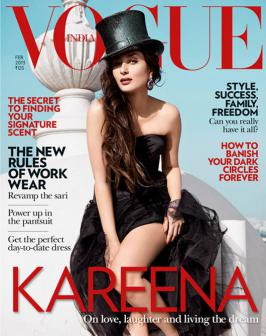 Kareena Kapoor on Vogue India Now that\'s what I call a stunning cover - Kareena Kapoor gives us her best sultry pose, and flashes some leg on