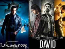 Vishwaroop, David have done good business collection at Indian Box Office in first weekend beating DMD, Mai, Midnights Children, Listen Amaya and Unsound.