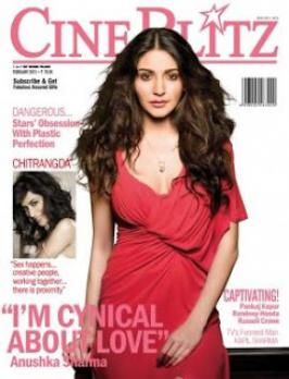 Anushka Sharma Hot On Cineblitz Magazine Feb 2013 Cover Page