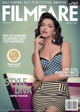 Deepika Padukone Hot On Filmfare Middle East Magazine Feb 2013 Coverpage