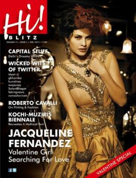 Jacqueline Fernandez Hot On Hi BLITZ Feb 2013 Magazine Coverpage