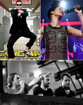 Top 3 Most Played Songs on New Year\'s Eve Would you believe these three songs topped the most played list at the stroke of midnight as we ushered in 2013?