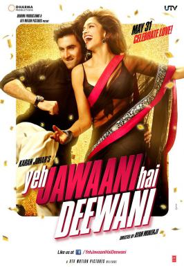 Yeh Jawaani Hai Deewani Movie Posters Out.The film stars Ranbir Kapoor and Deepika Padukone in lead roles. The trailer being release on March 2013, the film will be releasing on 31 May 2013.For more bollywood news and for latest bollywood news visit movies.infoonlinepages.com