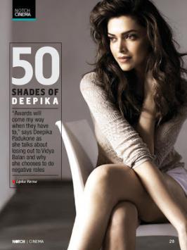 Deepika Padukone Hot On NOTCH Magazine Mar 2013