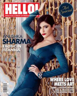 Anushka Sharma Hot on Hello! Magazine Mar 2013 Coverpage