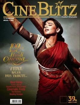 Vidya Balan As Mother India On Cineblitz Magazine Apri 2013 Coverpage