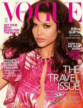 Esha Gupta Hot On Vogue Magazine April 2013 Coverpage