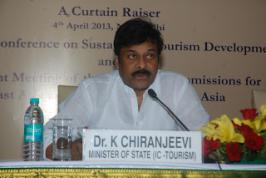 Chiranjeevi Wallpapers,tourism minister at UNTWO Curtain Raiser,central minister