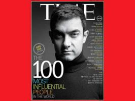 Bollywood star Aamir Khan has been featured on one of the seven special covers of the Time magazine listing the world\'s 100 most influential people.