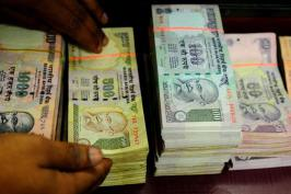 Rupee trading at 54.36/37 per dollar, the lowest since 16 April, compared with its previous close of 54.14/15