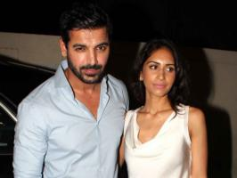 John Abraham recently spotted attending Shootout At Wadala premiere with girlfriend Priya Runchal. See pictures.