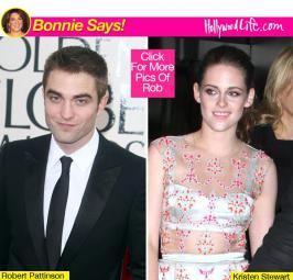Rob, we're so glad to see you moving past your troubled relationship. In fact, K-Stew's glad to see you happy, too!