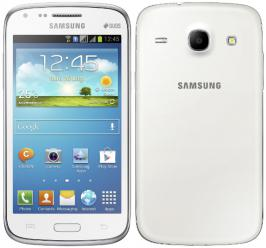 The Samsung Galaxy Core comes in White and Blue colors. No details about the availability or the pricing yet.