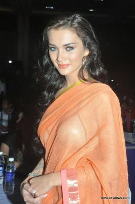 Amy Jackson Hot in Saree Stills Photos From