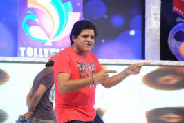 Telugu Star Comedian does a dance moves at Tollywood Channel Launch event held yesterday in Hyderabad.